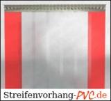 Rote Kunststoff Streifen