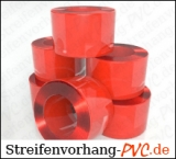 PVC Schweißerschutz - Rollenware - Rot transparent