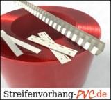 Bauteile für PVC Streifenvorhänge / Schweisserschutz