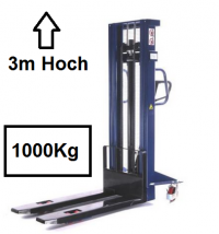 Hochhubwagen ( blau ) 1000Kg 3000 mm