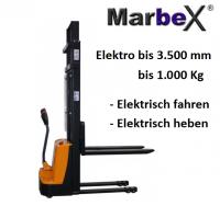 Hochhubwagen elektrisch 3500 mm 1000Kg