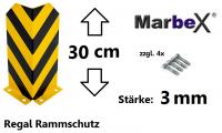 300mm Anfahrschutz / Rammschutz Regal 30cm, 3mm Stärke