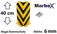 anfahrschutz regale, anfahrschutz palettenregal, anfahrschutz stapler, rammschutz stapler, 40cm stärke 6mm