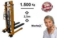 Handstapler 2500 mm / 1500Kg / 2,5m Höhe