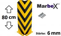 rammschutz regale, anfahrschutz regale, anfahrschutz palettenregal, anfahrschutz stapler, rammschutz stapler, 80cm, 800mm, stärke 6mm