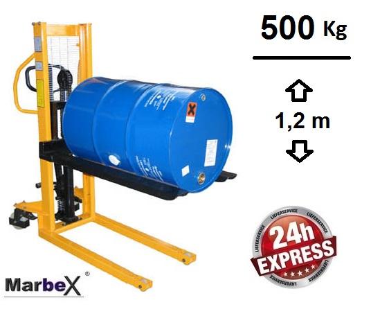 Fassheber 500Kg Traggkraft, 1200mm Hubhöhe